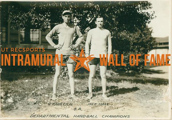 HANDBALL Departmental Champions  B. A.  R. A Guelich & Jack Hale