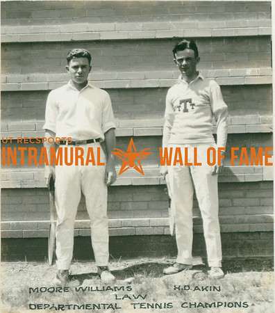 TENNIS Departmental Champions  Law  Moore Williams & H. D. Akin