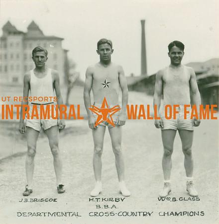 CROSS-COUNTRY Departmental Champions  B.B.A.  J. B. Briscoe, H. T. Kirby, and William B. Glass