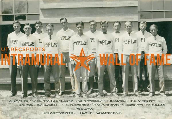 TRACK Departmental Champions  Pre-Law  R1: C. B. Smith, C. W. Johnson, J. A. Tucker, John Woodruff, H. B. Lanton, T. R. Merritt R2: E. O. Holt, A. J. Pluckett, W. N. Barnes, W. G. Johnson, F. T. Graham, W. P Regan