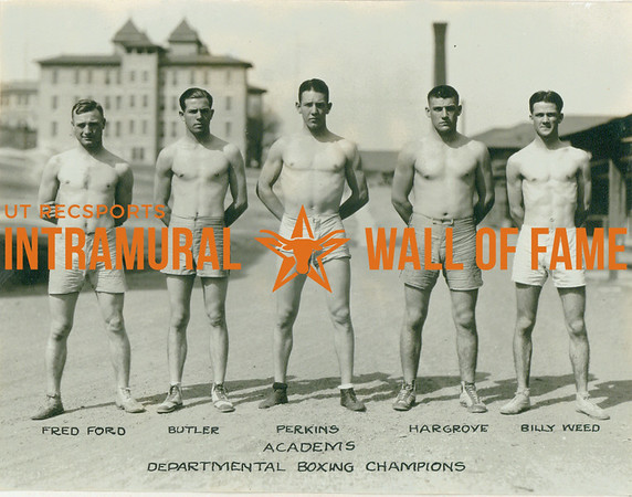 BOXING Departmental Champions  Academics  Fred Ford, Butler, Perkins, Hargrove, Billy Weed