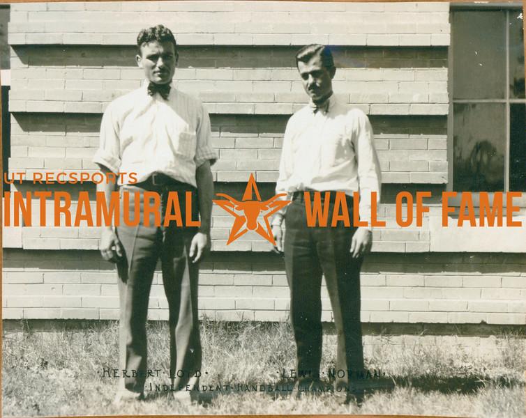 HANDBALL Independent Champions  Herbery Loyd & Lewis Norman