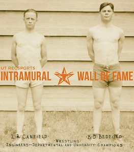 WRESTLING Departmental & University Champions  Engineers  L. R. Canfield & B. D. Bedford