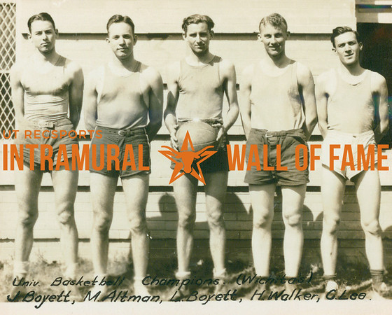 BASKETBALL University Champions  Wichita's  J. Boyett, M. Altman, L. Boyett, H. Walker, C. Lee