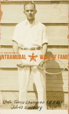 TENNIS University Champion  B. B. A.  Julius Ginsburg