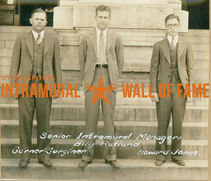 SENIOR INTRAMURAL MANAGERS  Garner Surginer, Billy Rutland & Howard Jones