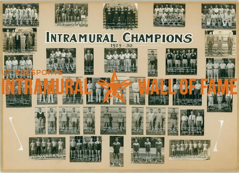 Intramural Champions 1929-30