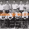 "Volleyball Club Champions<br /> Back Row (L to R): F. Horak, E. Hannes, A. Blaha, W. Kubena, ""Goat"" Czigen.<br /> Front Row (L to R): W. Gardner, W. Gardner, ""Chili"" Kubena, D. Darilek.<br /> Czeck Club"