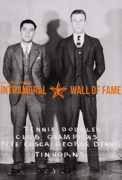 Tennis Doubles Club Champions Pete Cosca (L), George Dennis (R) Tinhorns