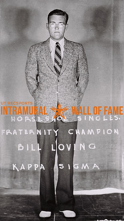 Horseshoe Singles Fraternity Champion Bill Loving Kappa Sigma
