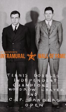 Tennis Doubles Independent Champions Woodrow Carter (L), C.P. Sanders (R) Open