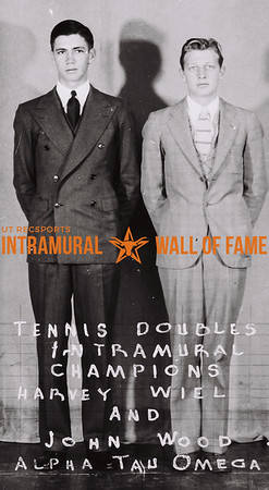 Tennis Doubles Intramural Champions Harvey Wiel (L), John Wood (R) Alpha Tau Omega