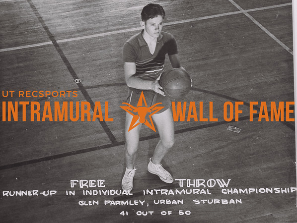 Free Throw Runner-Up in Individual Intramural Championship Glen Parmley Urban Sturban 41 out of 50