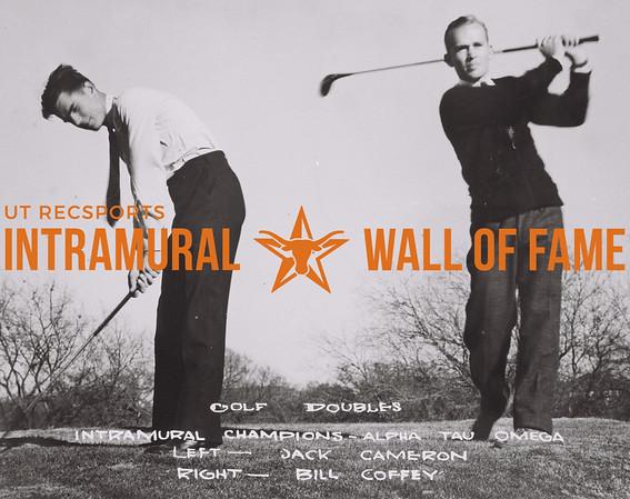 Golf Doubles Intramural Champions Alpha Tau Omega Left- Jack Cameron Right- Bill Coffey