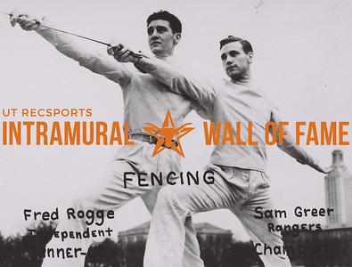 Fencing (L): Fred Rogge, Independent, Runner-Up. (R): Sam Greer, Rangers, Champion.