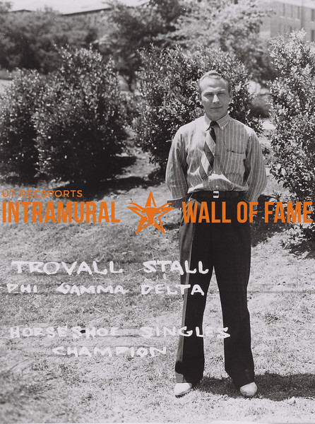 Trovall Stall Phi Gamma Delta Horseshoe Singles Champion