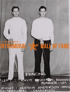Fencing Left: Travis Griffin, Rangers, Runner-Up. Right: Hudson Anderson, Open, Intramural Champion.