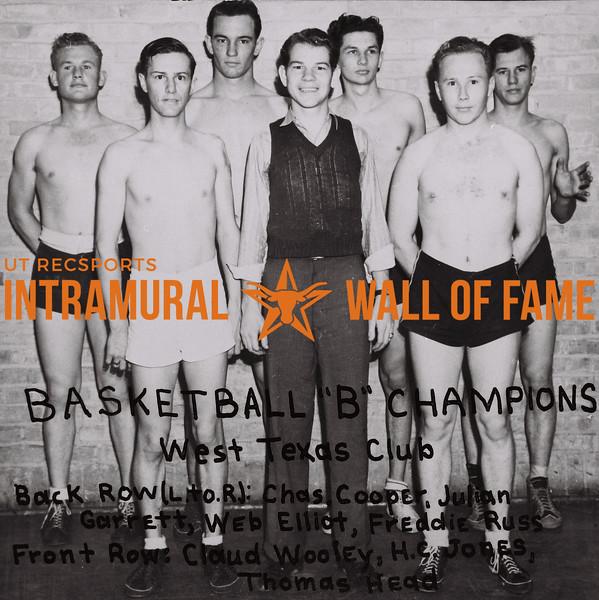 "Basketball ""B"" Champions West Texas Club"