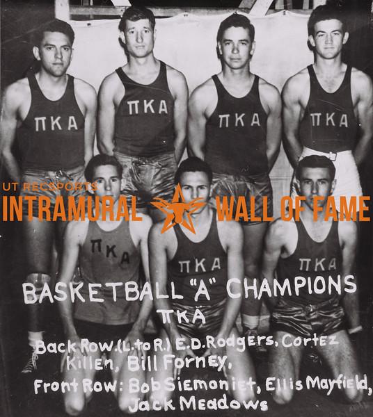 "Basketball ""A"" Champions 1938-39"
