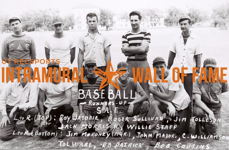 Baseball Runners Up SAE 1939-40