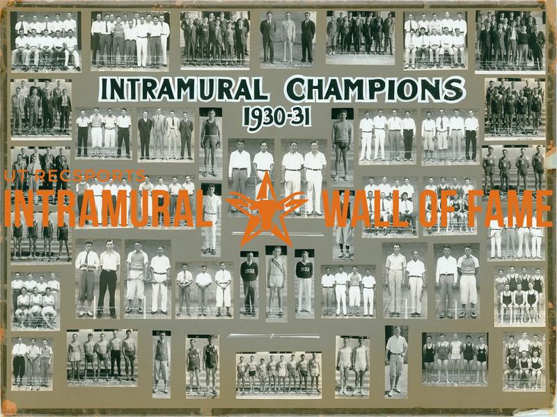 Intramural Champions 1930-31