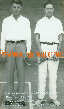 """TENNIS Independent Doubles Champions  Little Campus """"A"""" Dormitory  Charles Pilgrim & Howard Smith"""