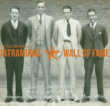 JUNIOR INTRAMURAL MANAGERS  Howard Chilton, Maurice Scurry, Minor Pitts & Carl Fuhrman