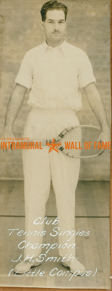 TENNIS Club Singles Champion  Little Campus  J. H. Smith