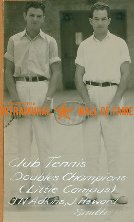 TENNIS Club & Doubles Champions  Little Campus  J. N. Adkins & J. Howard Smith