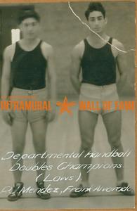 HANDBALL Departmental Doubles Champions  Laws  R. J. Mendez & Frank Alvardo