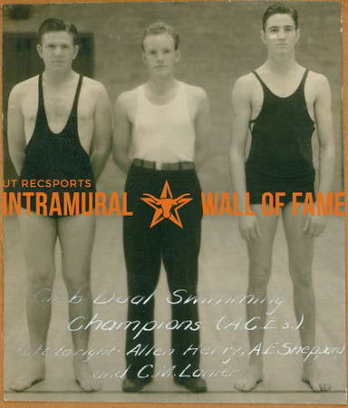 SWIMMING Dual Champions  ACE's  Allen Henry, A. E. Sheppard & C. M. Lanier