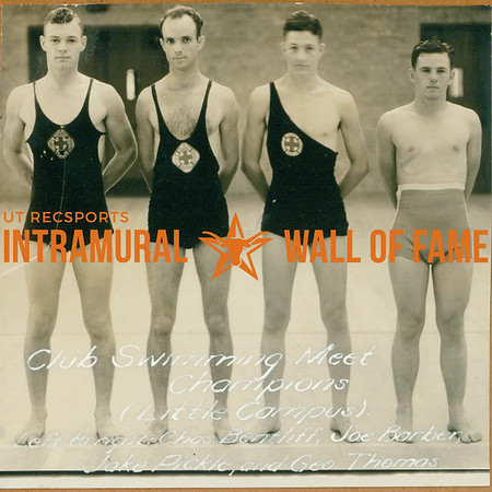SWIMMING Club Meet Champions  Little Campus  Charles Bentliff, Joe Barber, Jake Pickle, George Thomas