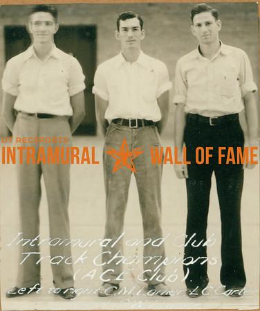 TRACK Intramural & Club Champions  A. C. E. Club  C. M. Lanier, L. C. Carter, D. W. Lanier