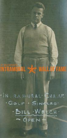 GOLF Intramural Singles Champion  Open  Bill Welch