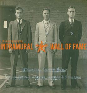 INTRAMURAL SENIOR MANAGERS  Styron Ragsdale, Lester Springer & W. Simpson