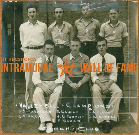VOLLEYBALL Champions  Czech Club  FRONT: B. Fordtran, D. Darilek, L. Lidiak BACK: F. Horak, W. Kubena, A. Blaha, G. Parley