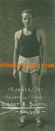 HANDBALL Singles Runner-Up  Engineers  Albert E. Sheppard