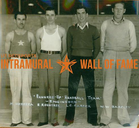 HANDBALL Runners-up  Engineers  M. Herrera, R. Rountree, L. C. Carter & W. W. Barcley