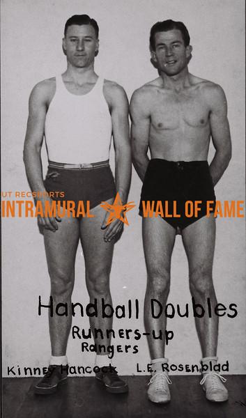 Handball Doubles 1937-38