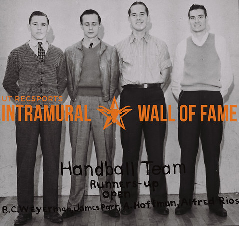 Handball Team Runners Up 1937-38