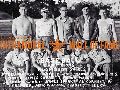 Baseball Champion Blomquist Swedes Kneeling (L-R): Winfield Jones, Marvin Scurlock, M.S. Baker, James Cornett, Eldon Mahon Standing (L-R): James Sparks, Al Cornett, P. Hybarger, Jack Watson, Charles Tillery,