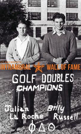 Golf, Doubles, Champions, Julian La Roche, Billy Russell, Phi Delta Theta