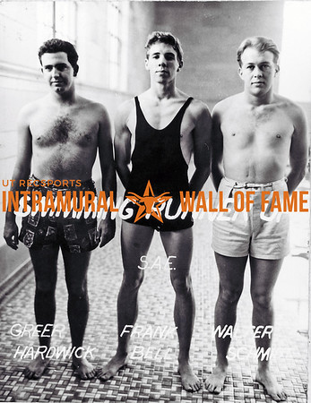 Swimming Runner Up Sigma Alpha Epsilon Greer Hardwick, Frank Bell, Walter Schmidt.