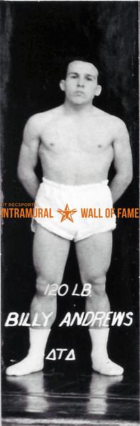Boxing, Runner Up, 120 lb. Class Billy Andrews, Delta Tau Delta