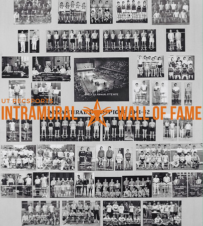 Picture of the 1941 Intramural Champions on the Wall of Fame inside Gregory Gym