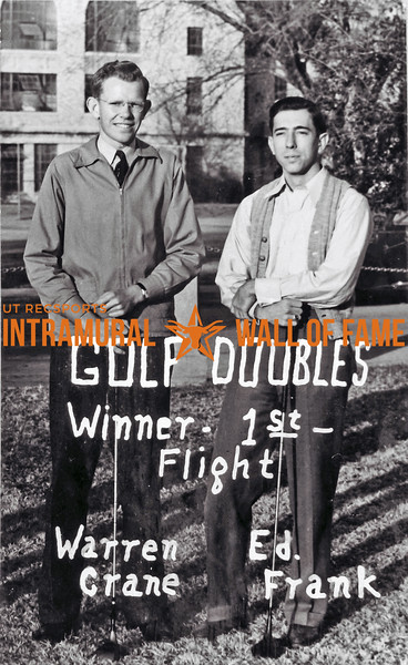Golf Doubles, Winner 1st Flight Warren Crane, Ed Frank
