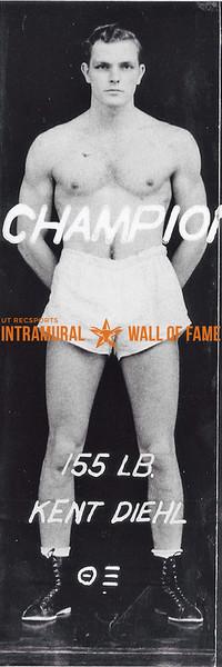 Boxing, Champion 155 lb. Class Kent Diehl, Theta Xi