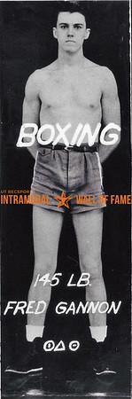 Boxing, Champion 145 lb. Class Fred Gannon, Phi Delta Theta,