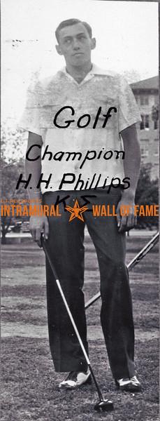 Golf, Singles Champion Kappa Sigma H.H. Phillips