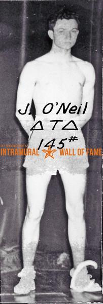 Boxing, Champion, 145 lb. Class Delta Tau Delta J. O'Neil
